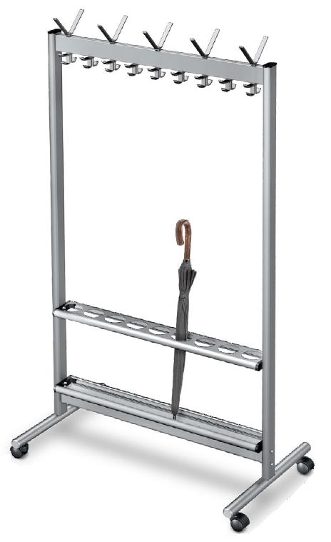 rubu kabykla, aliuminio profiliu kabykla, coat rack