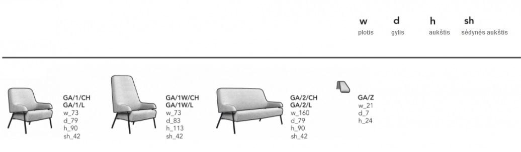 minialistinio dizaino minkstasuoliai, fotelis, noti furniture